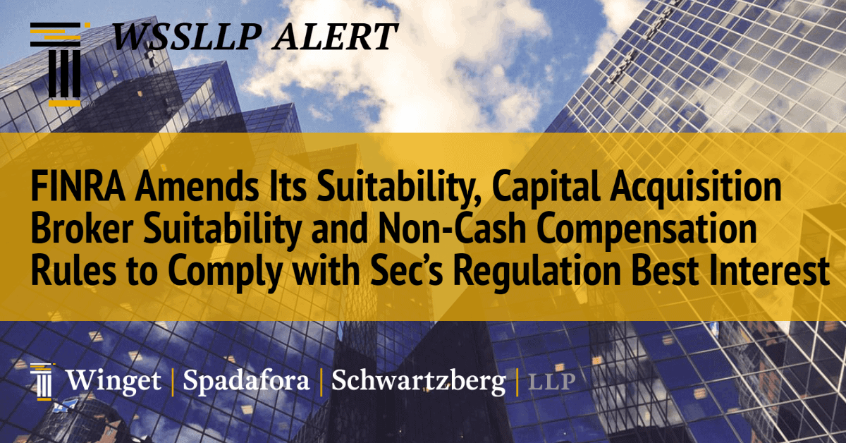 wssllp - FINRA Amends Its Suitability